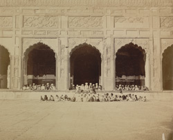 Pupils of the Arabic and Persian Indigenous School at the Jami Masjid, Lahore